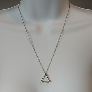 Triangle Gold Tone Necklace 20""